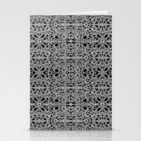 cyberpunk Stationery Cards featuring Cyberpunk Silver Print Pattern  by DFLC Prints
