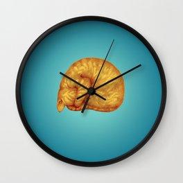 Ginger Introvert in Deep Teal Slumber Wall Clock