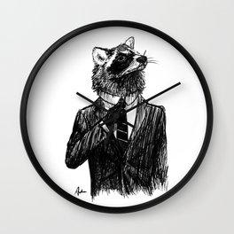 Dapper Raccoon Wall Clock