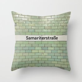 Berlin U-Bahn Memories - Samariterstraße Throw Pillow