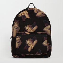 Classical Cherub Toss in Black Onyx Backpack
