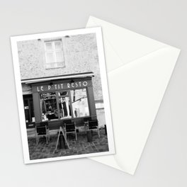 Le P'tit Resto  //  France - travel photography Stationery Cards