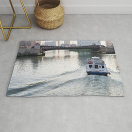 Evening on the Chicago River Rug
