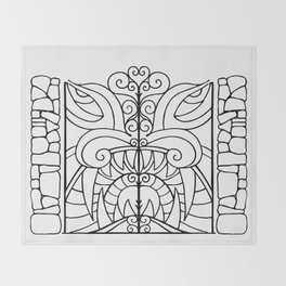 Threshold Guardian Throw Blanket