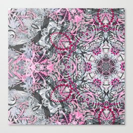 Gray and Pink Canvas Print