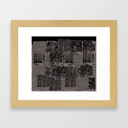 Doodle and the city Framed Art Print