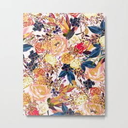 Rustic Floral #society6 #decor #buyart Metal Print