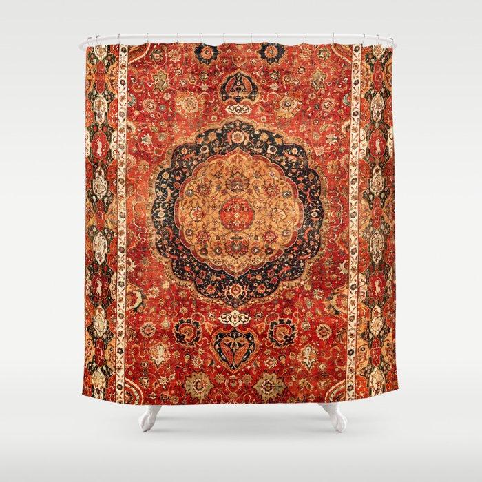 Seley 16th Century Antique Persian Carpet Print Shower Curtain