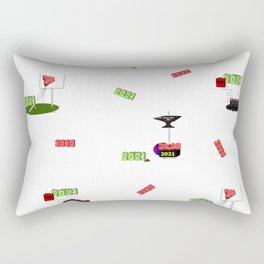 Goodbye 2020 Hello 2021 Happy New Year Rectangular Pillow