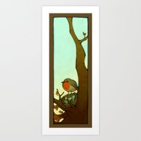 robin Art Prints featuring Robin by loish