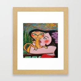 Bisous sur le cou Framed Art Print