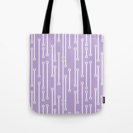 Dotted Lines in Lilac, White and Gray Tote Bag