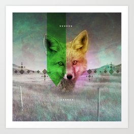 Field of Foxes Art Print