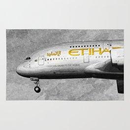 Etihad Airlines Airbus A380 Art Rug
