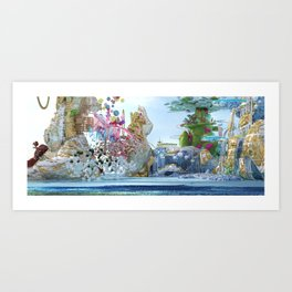 Looking at the city of paradise from far away Art Print