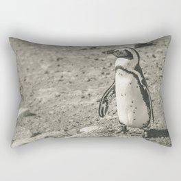 Black and White African Penguin Rectangular Pillow
