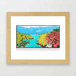 Spring Ocean View Framed Art Print