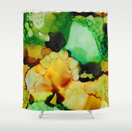 Emerald and Amber Shower Curtain