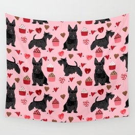 Scottie scottish terrier valentines day dog love pet portrait cute puppy dog valentine Wall Tapestry