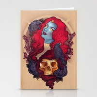 raven Stationery Cards featuring Raven by Megan Lara