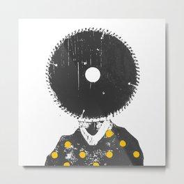 I have a saw head Metal Print