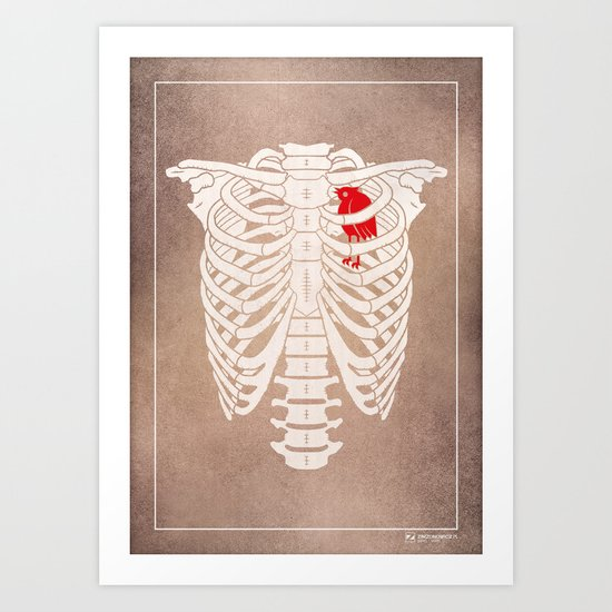 Skeleton Art Print
