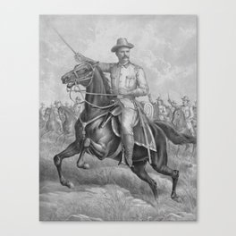 Colonel Theodore Roosevelt On Horseback Canvas Print