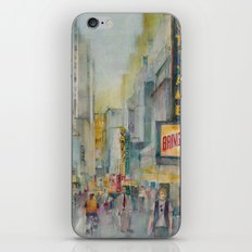 Broadway,  New York - Five O'Clock Revised iPhone & iPod Skin