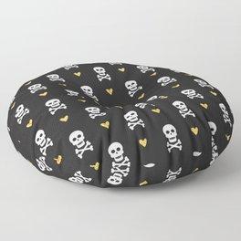 Skulls & Crossbones Pattern Floor Pillow