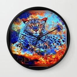 Big Cat Models: Leopard Laze 01-01 Wall Clock