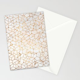 Organic Geometry - Copper and Mother of Pearl Stationery Cards