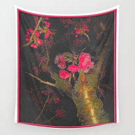 Cherry Tree Night Wall Tapestry