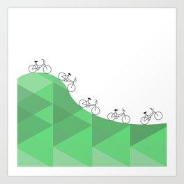 Biking Goals Art Print