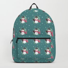 Penguin Greetings - Holiday Pattern Backpack