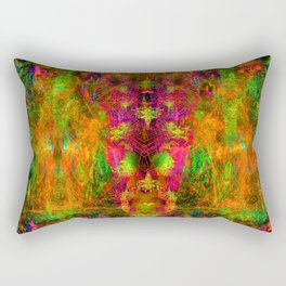 Jungle Fire (abstract, psychedelic, visionary) Rectangular Pillow