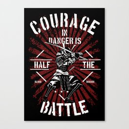 Courage in Battle, Samurai Rule Canvas Print