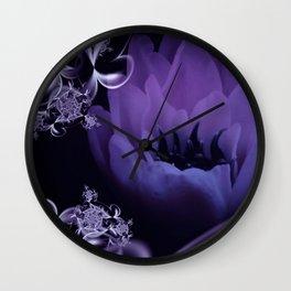fleur du mal - lilac Wall Clock