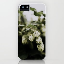 Green hops, beer fundamentals | Photography iPhone Case