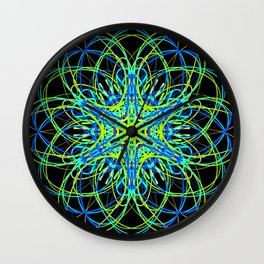 Electric Flower of Life Wall Clock