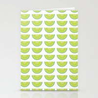 lime Stationery Cards featuring Lime by KatieKatherine