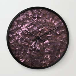 Pink Rainbow Shimmering Mother of Pearl Wall Clock