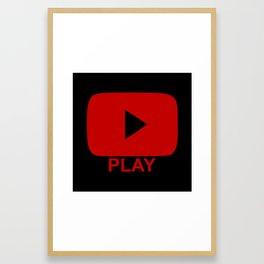 Play Button Framed Art Print