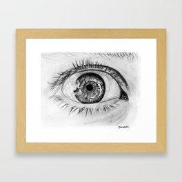 Eye closeup Framed Art Print