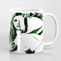 kate moss Mugs featuring Kate Moss by fashionistheonlycure