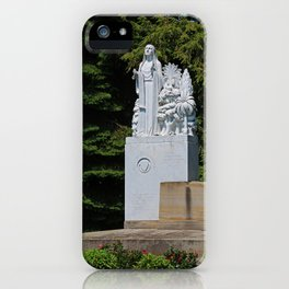 Lourdes University- Our Lady of Sylvania in the Spring (vertical) iPhone Case