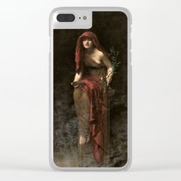 John Collier - Priestess of Delphi, 1891 Clear iPhone Case