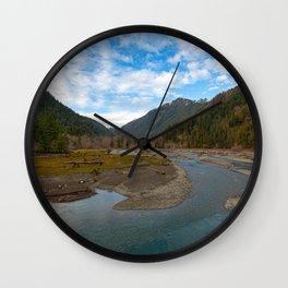 Lake Cushman WA Wall Clock