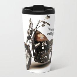 Harley Dyna Glide, Soft Message, Open Roads, Road Trip Travel Mug