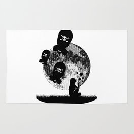 Bubbles and Bombs Away (Etching Sketch) Rug