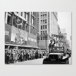General Patton - Ticker Tape Parade Canvas Print